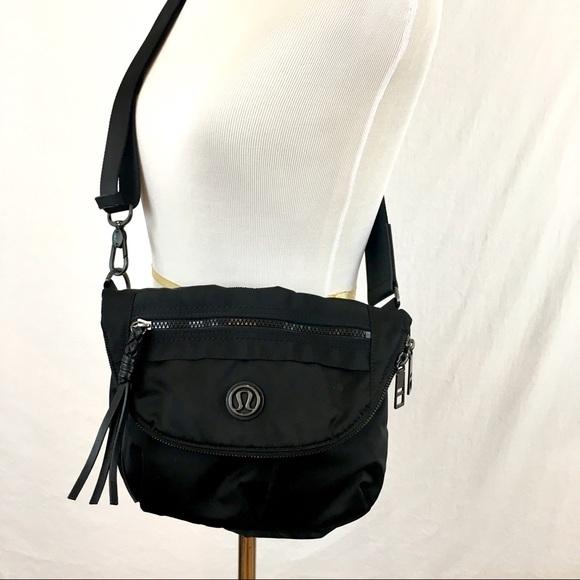 5e0fcb8dd9cd lululemon athletica Handbags - Lululemon Festival Black Nylon Crossbody Bag